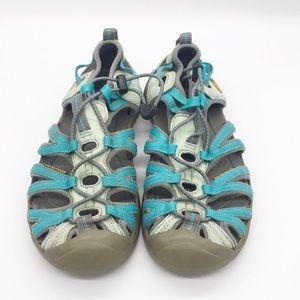 Keen Waterproof Hiking Outdoor Sandal Blue